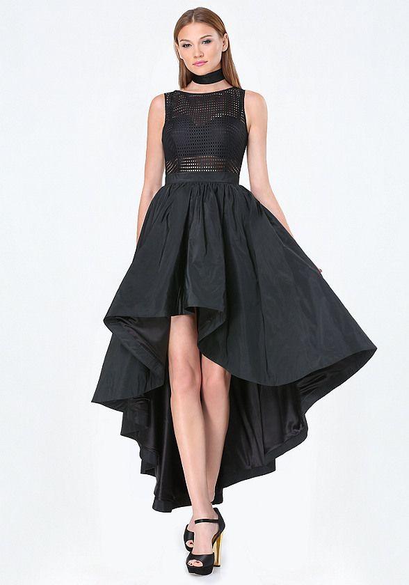 черное платье маллет