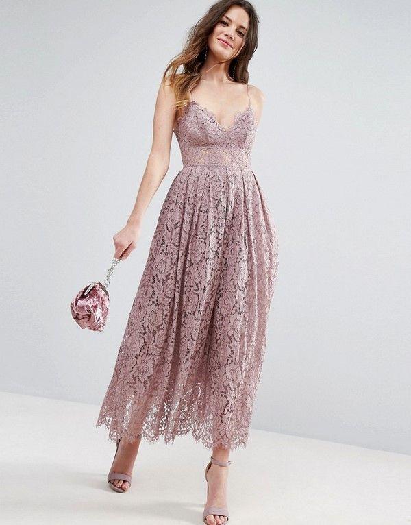 пышное кружевное платье миди