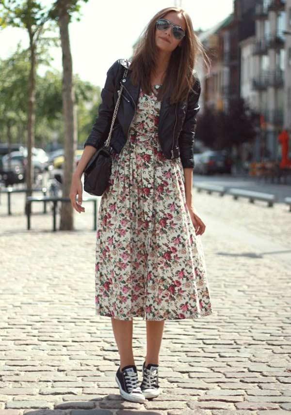 платье французской длины с курткой