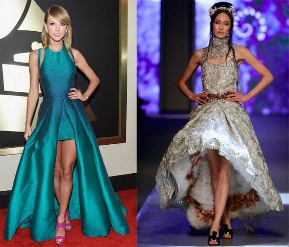 знаменитость в платье маллет