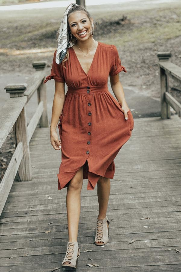 повседневное платье миди
