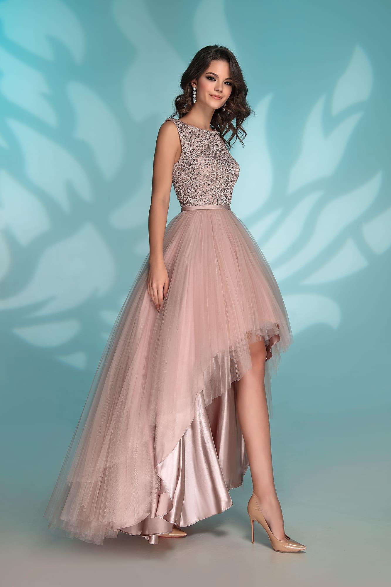 платье маллет цвета слоновой кости