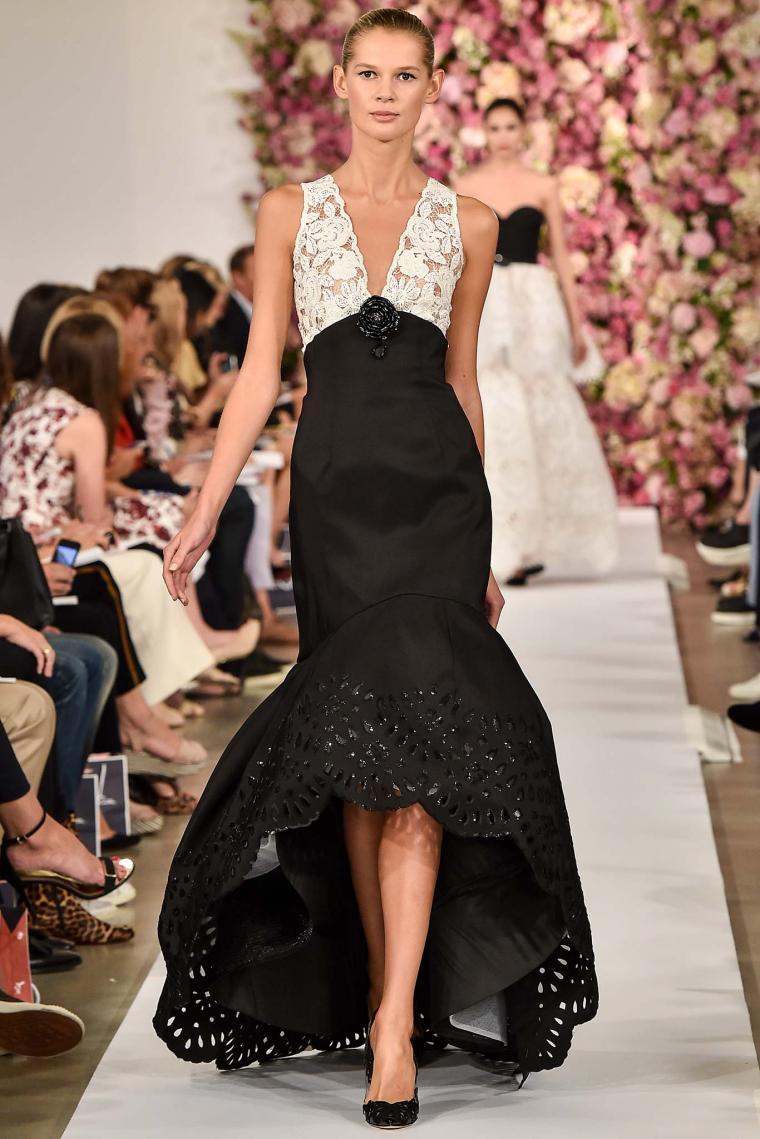 черно-белое платье маллет
