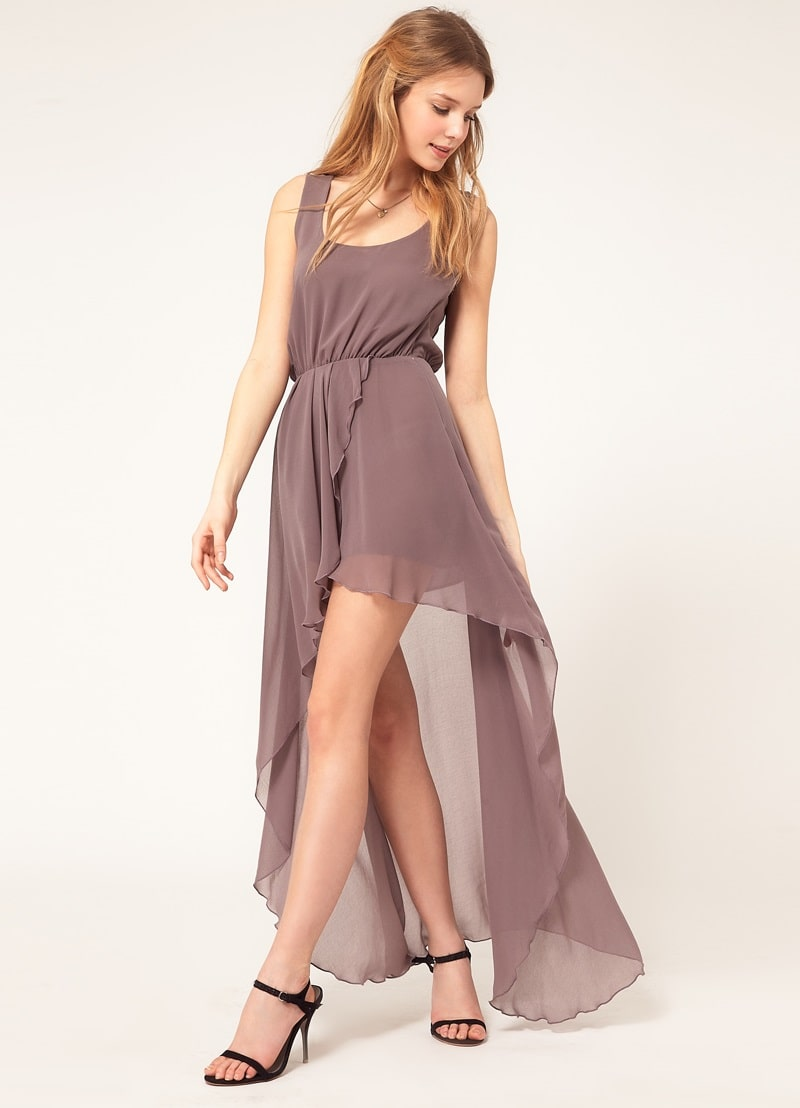 шифоновое платье маллет