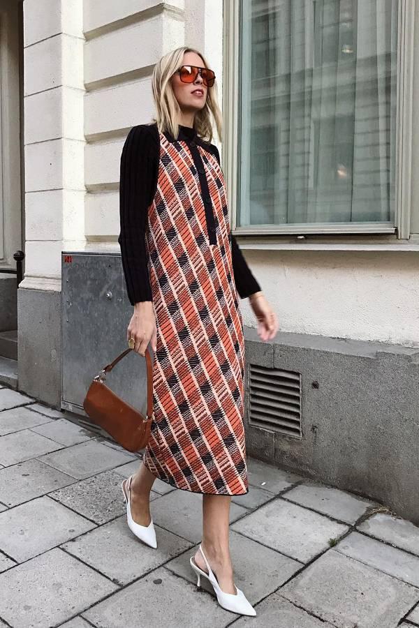платье французской длины с лодочками