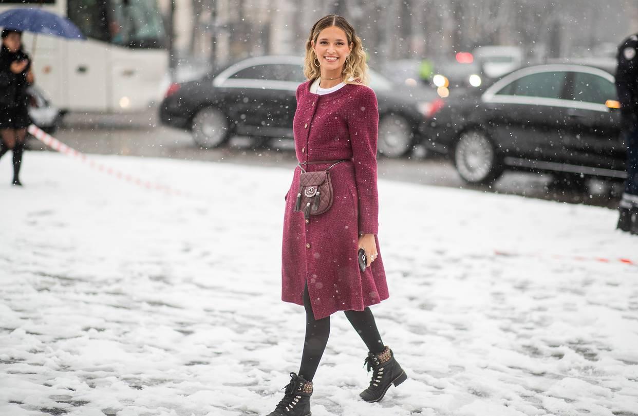 платье ботинки пальто
