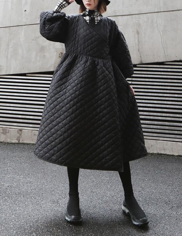 стеганое платье с рукавом фонариком