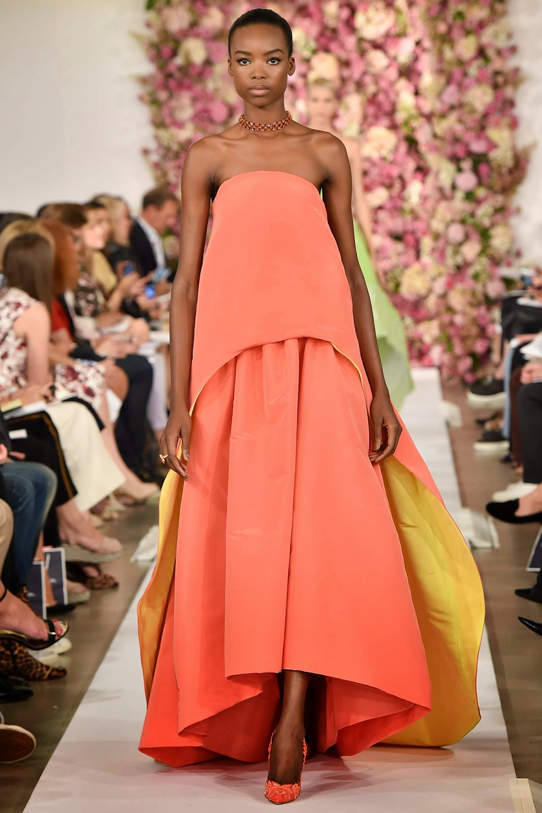 яркое платье маллет