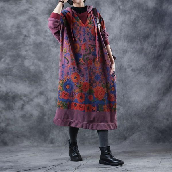 платье с капюшоном бохо