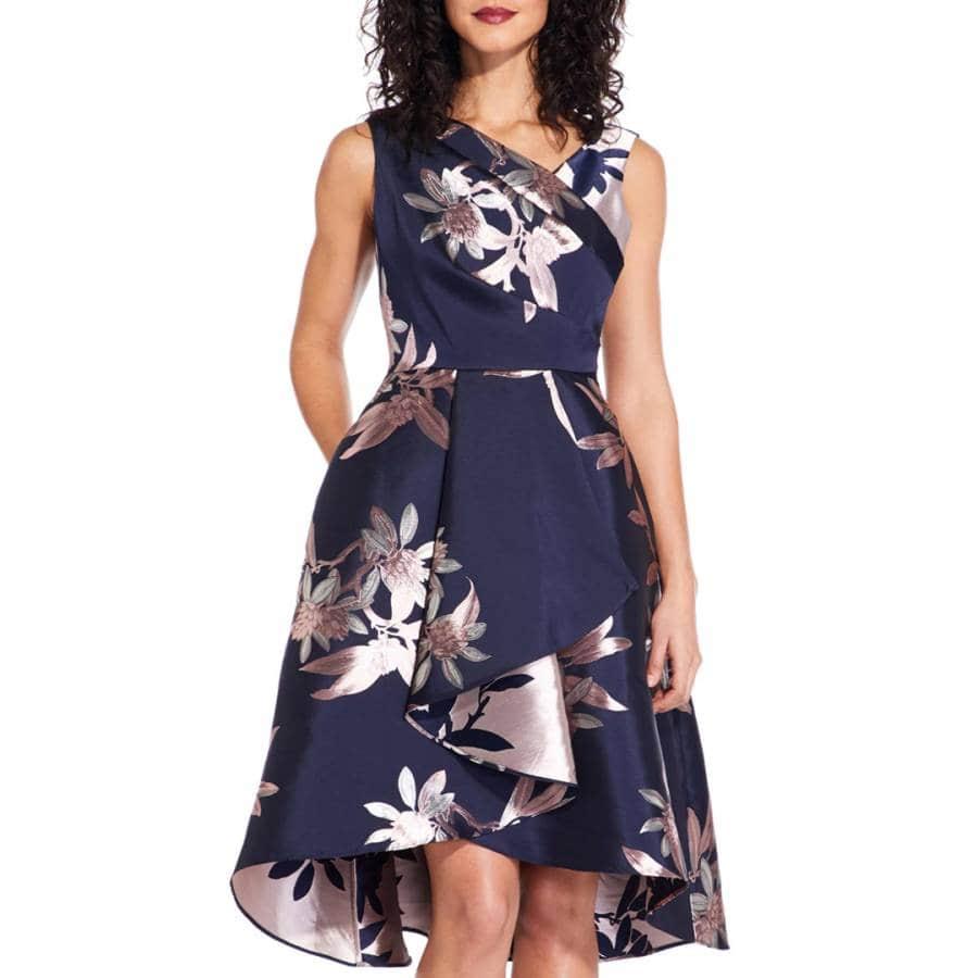цветное платье из жаккарда