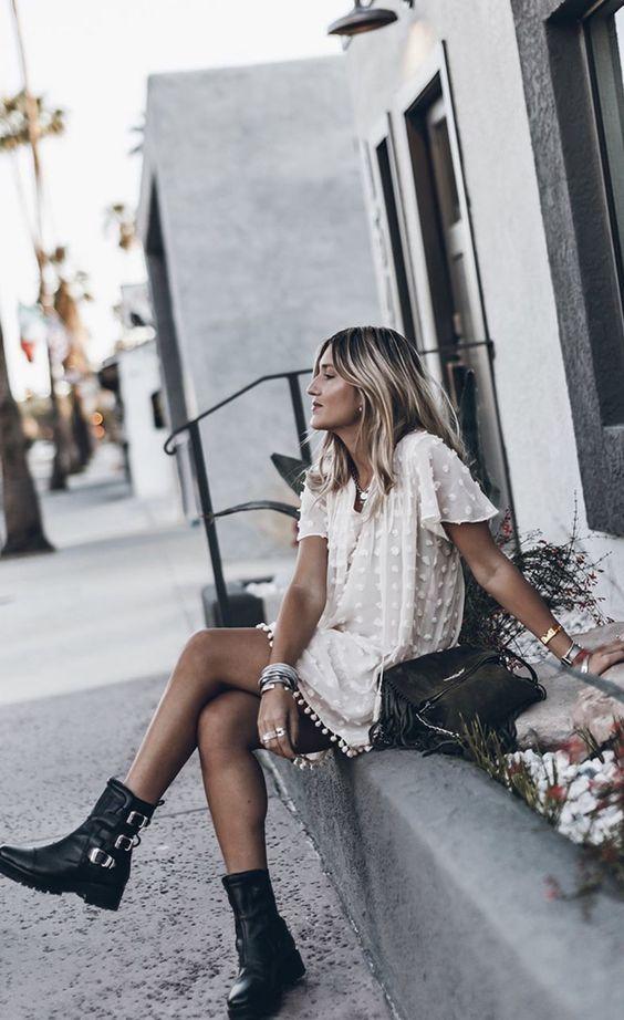летнее платье и ботинки фото