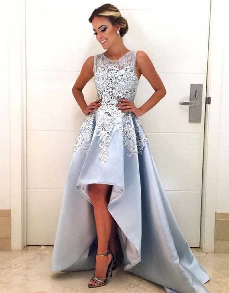 нежно голубое платье маллет