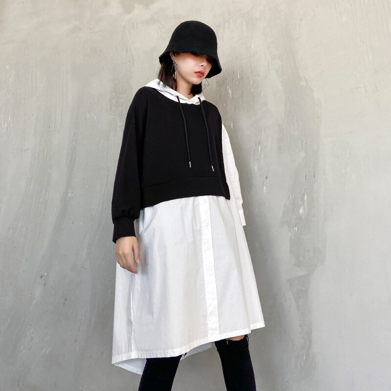 платье с капюшоном балахон