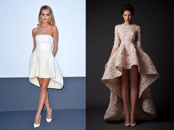 платье маллет варианты
