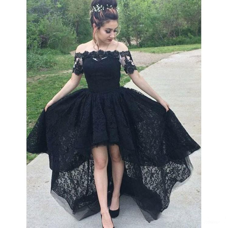 черное кружевное платье маллет