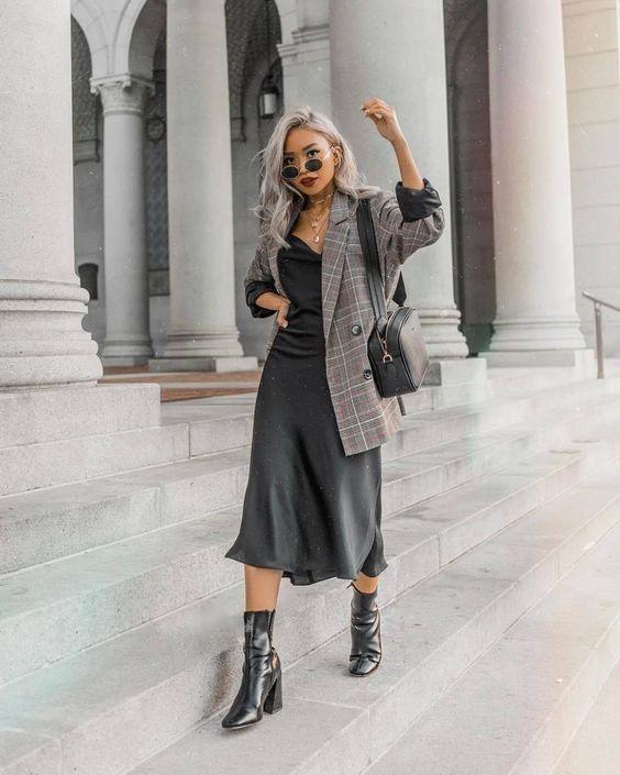 платье комбинашка с пиджаком