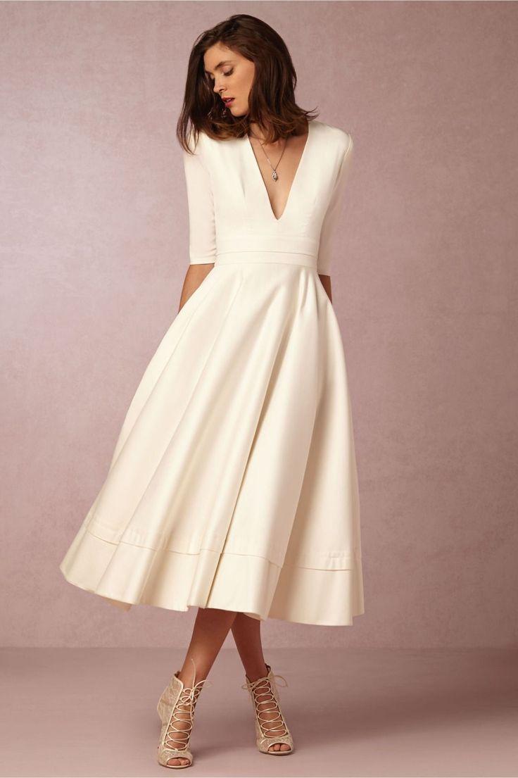 свадебное платье миди пышное
