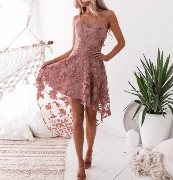 кружевное платье маллет