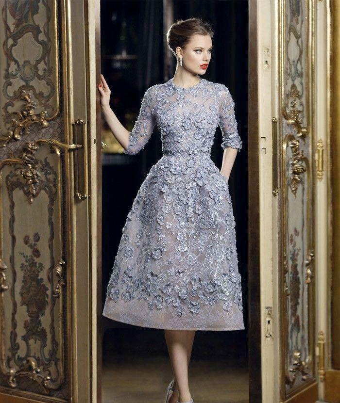 вечернее платье длина французская