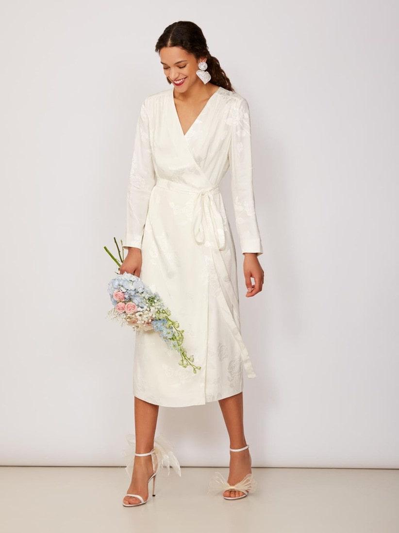 свадебное платье с запахом