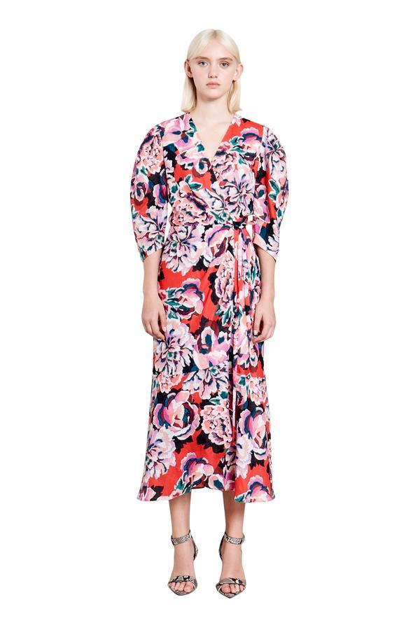 платье халат с запахом