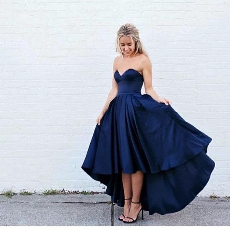 синее платье маллет