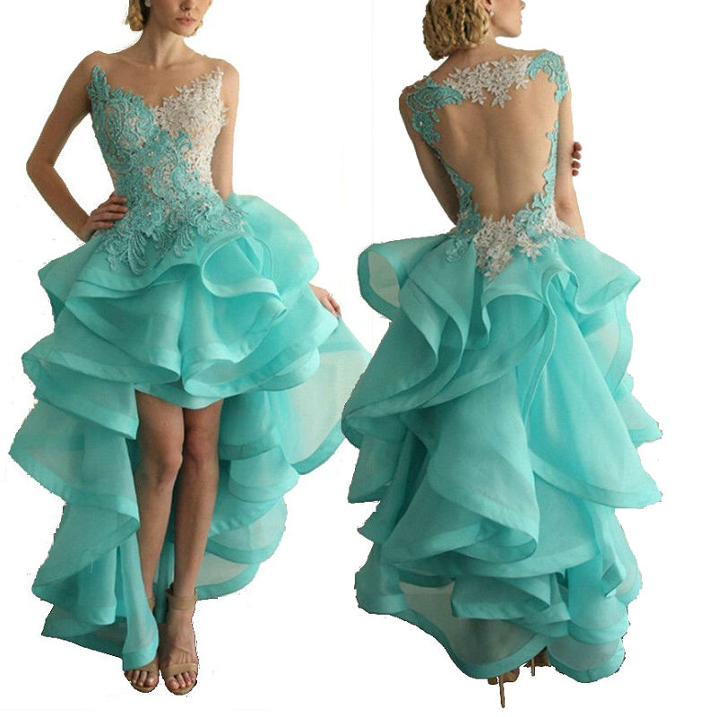 бирюзовое платье маллет