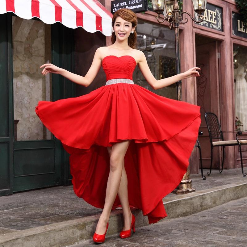 красное платье маллет