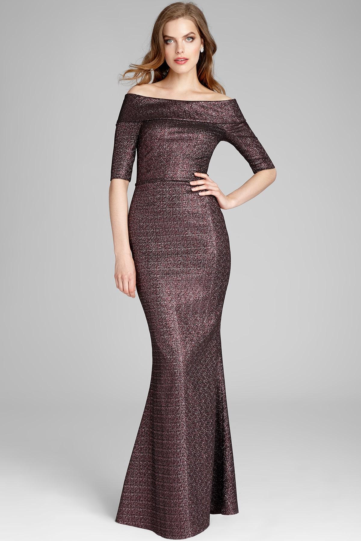 роскошное платье из жаккарда