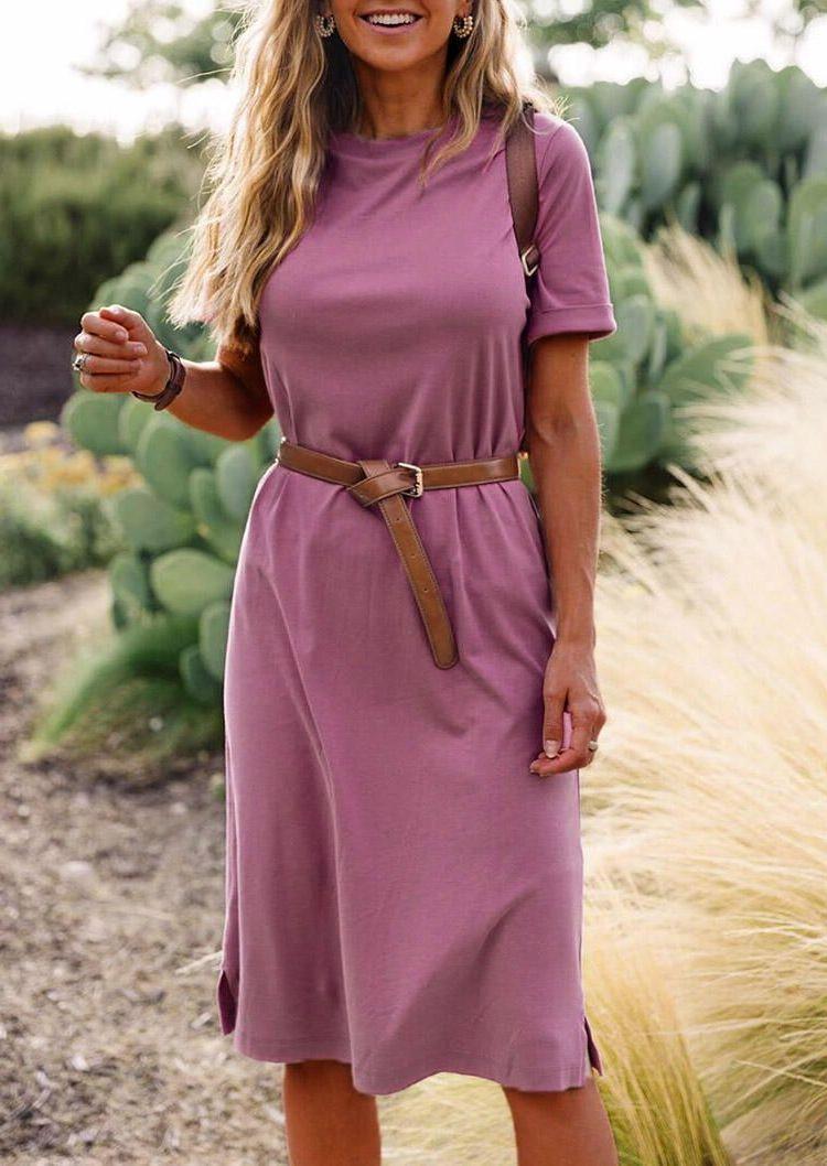классическое платье с ремнем