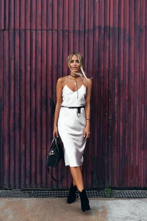 бельевое платье с поясом