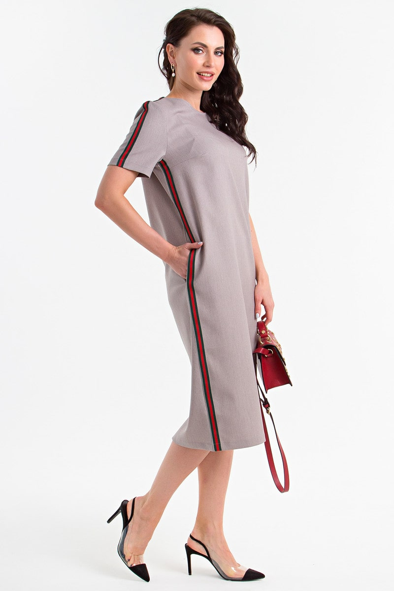 платье шифт с полосой сбоку
