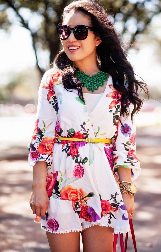 цветное платье с поясом