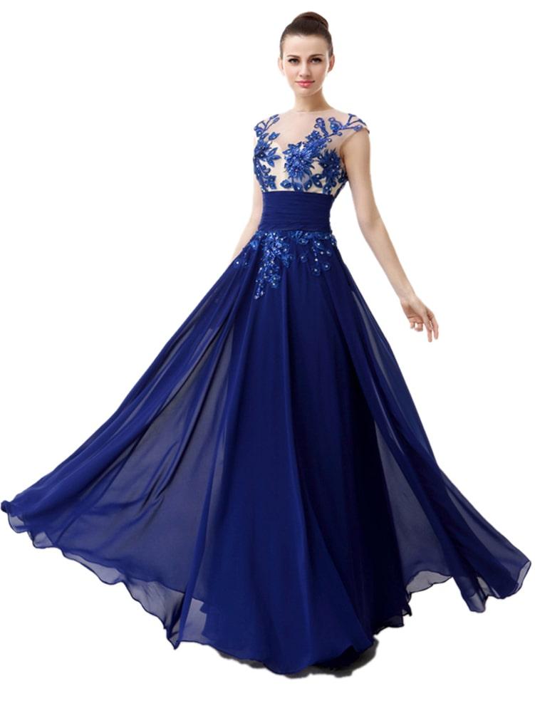 темно синее свадебное платье с кружевом