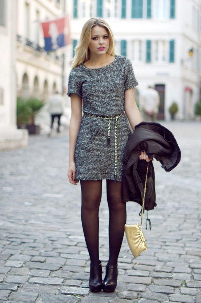 платье шанель с поясом