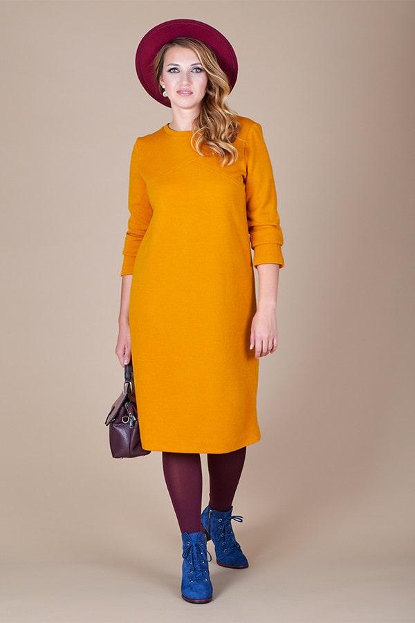 желтое платье с колготками фуксия