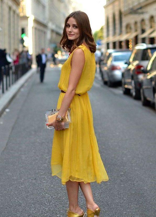 шифоновое платье с ремнем