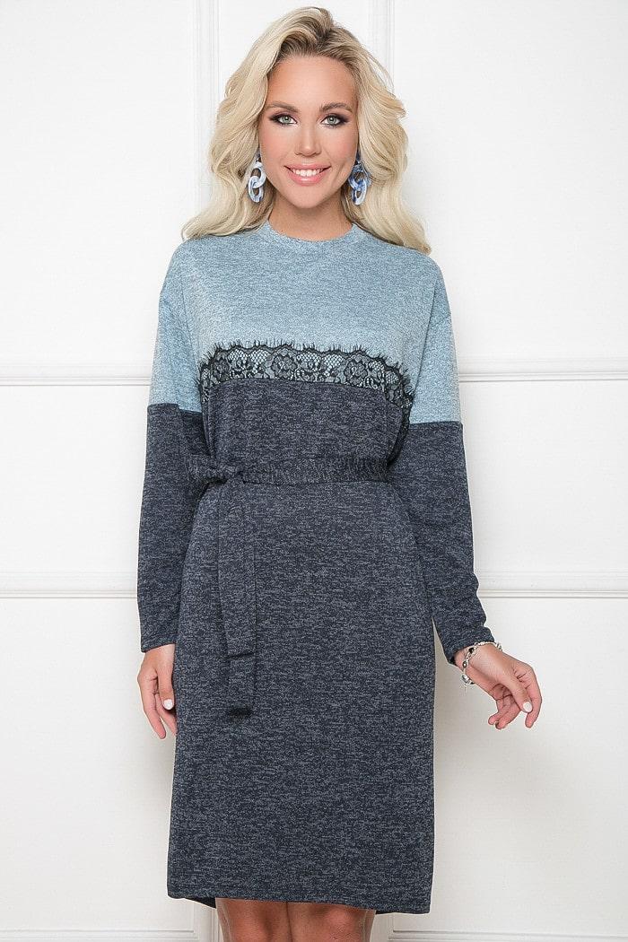 платье шифт с поясом
