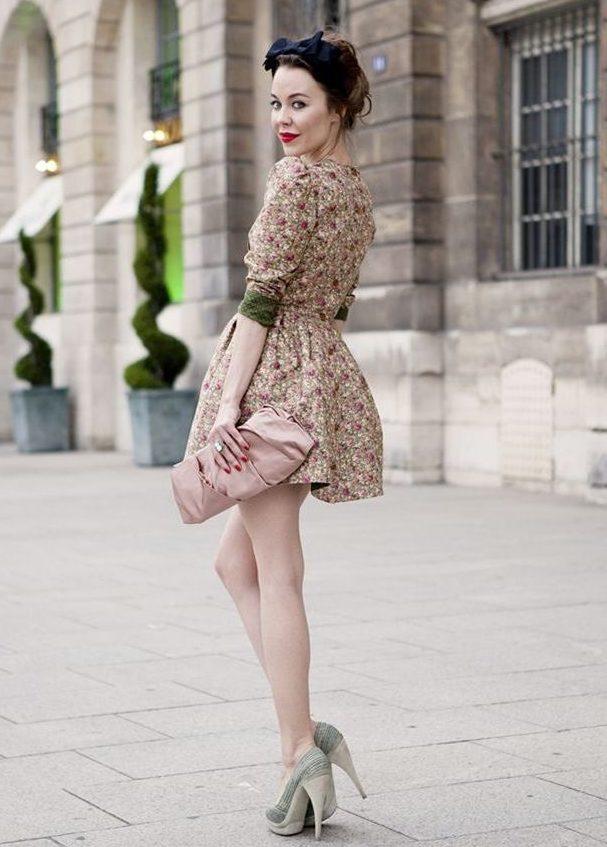 короткое  винтажное платье