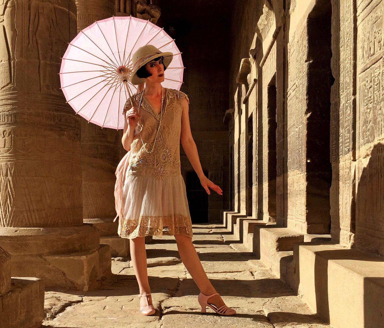 винтажное платье и зонтик