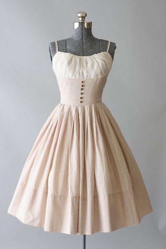 винтажное платье на бретелях