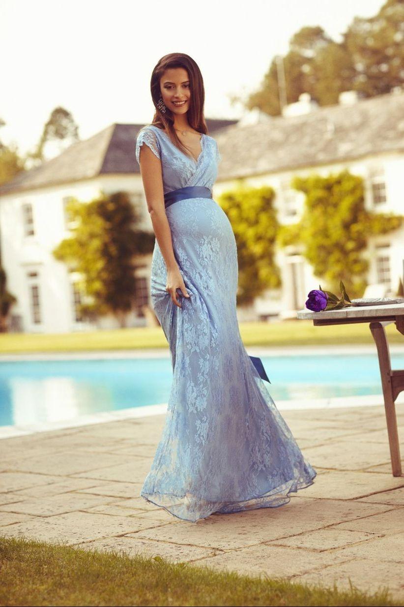 сиреневое платье для беременной