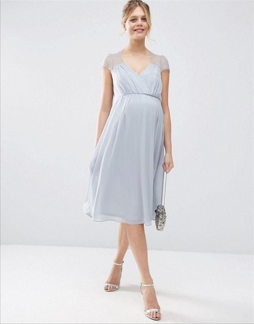 платье для беременной миди