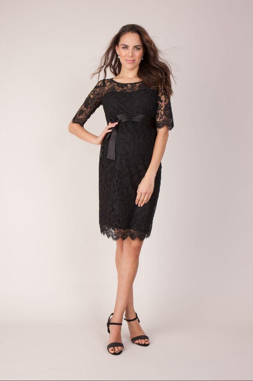 черное платье для беременной