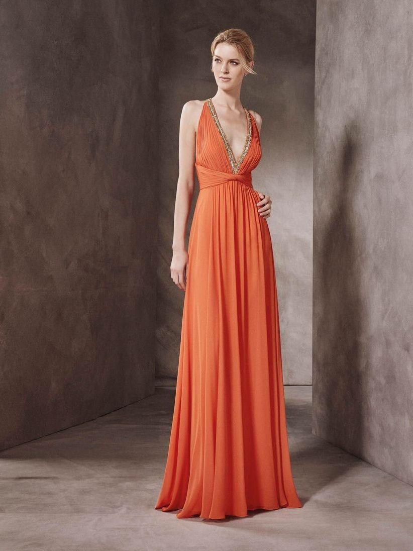 коралловое платье для беременной