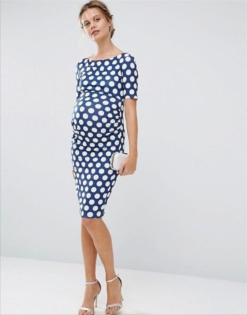 платье для беременной в горошек