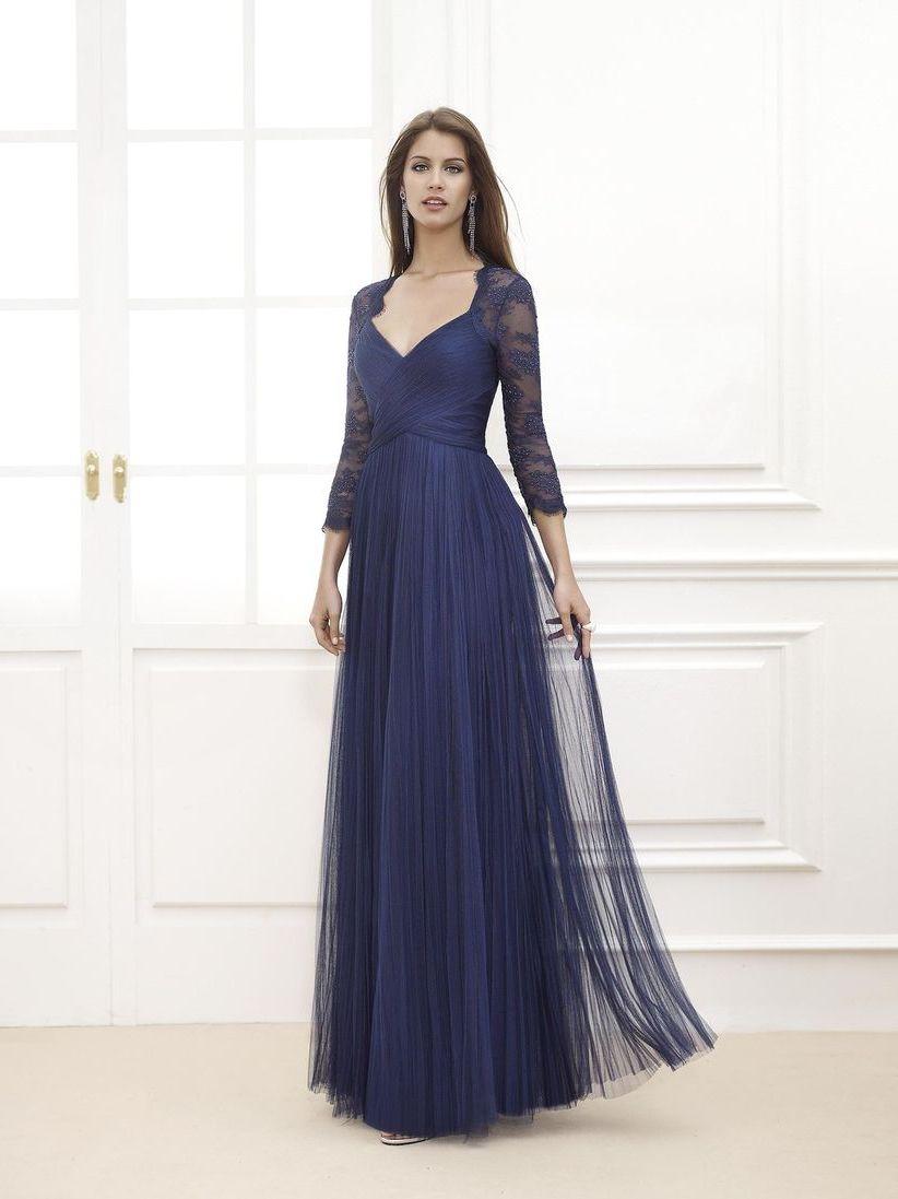 синее платье для беременной