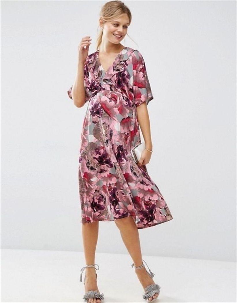 цветное платье для беременной