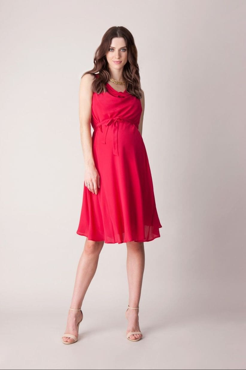 малиновое платье для беременной