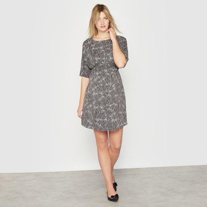 серое платье для беременной